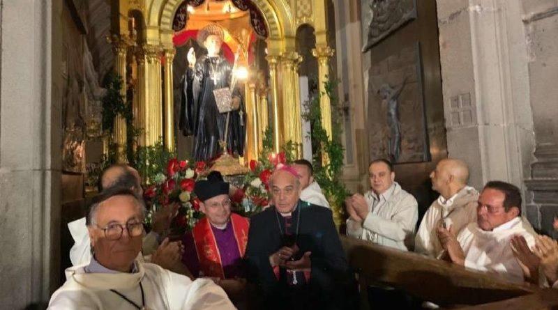 Biancavilla, Mons. Salvatore Gristina celebra San Placido ad un anno esatto dal terremoto