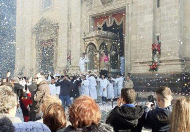 Paternò festeggia Santa Barbara e Mons. Gristina nomina i nuovi canonici della Collegiata