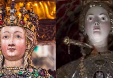 L'abbraccio tra Sant'Agata e Santa Lucia: le reliquie delle due martiri in pellegrinaggio al Duomo di Catania