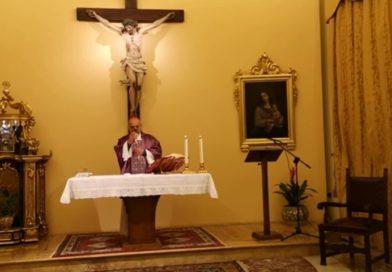 Dalla Cappella privata dell'Arcivescovo la Messa della IV domenica di Quaresima