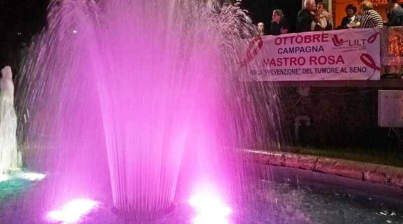 """Monumenti illuminati di rosa per la lotta contro i tumori, """"Campagna Nastro Rosa LILT for Women"""""""
